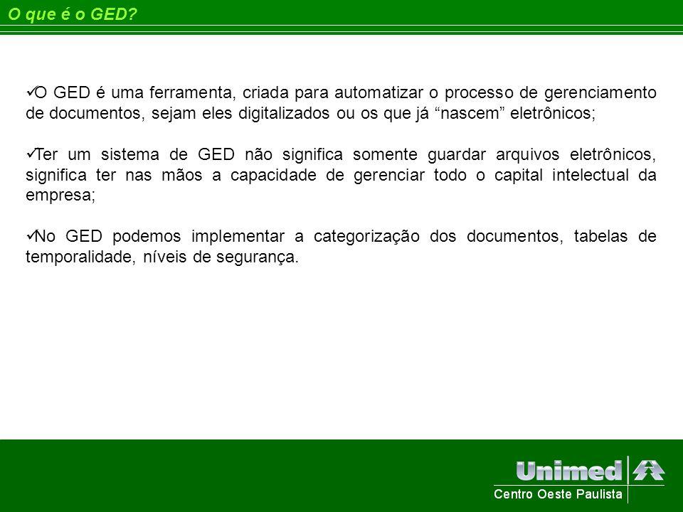 O que é o GED? O GED é uma ferramenta, criada para automatizar o processo de gerenciamento de documentos, sejam eles digitalizados ou os que já nascem