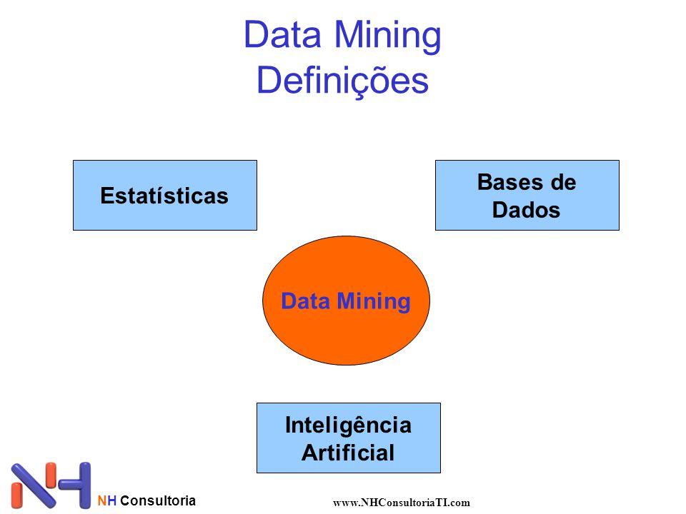 NH Consultoria www.NHConsultoriaTI.com Data Mining Definições Estatísticas Bases de Dados Inteligência Artificial Data Mining