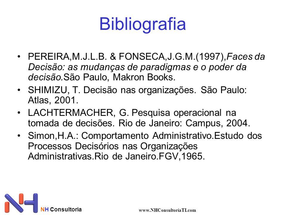 NH Consultoria www.NHConsultoriaTI.com Bibliografia PEREIRA,M.J.L.B.