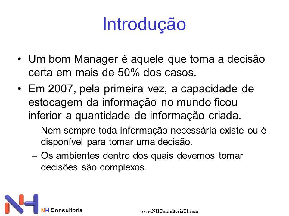 NH Consultoria www.NHConsultoriaTI.com Introdução Um bom Manager é aquele que toma a decisão certa em mais de 50% dos casos.
