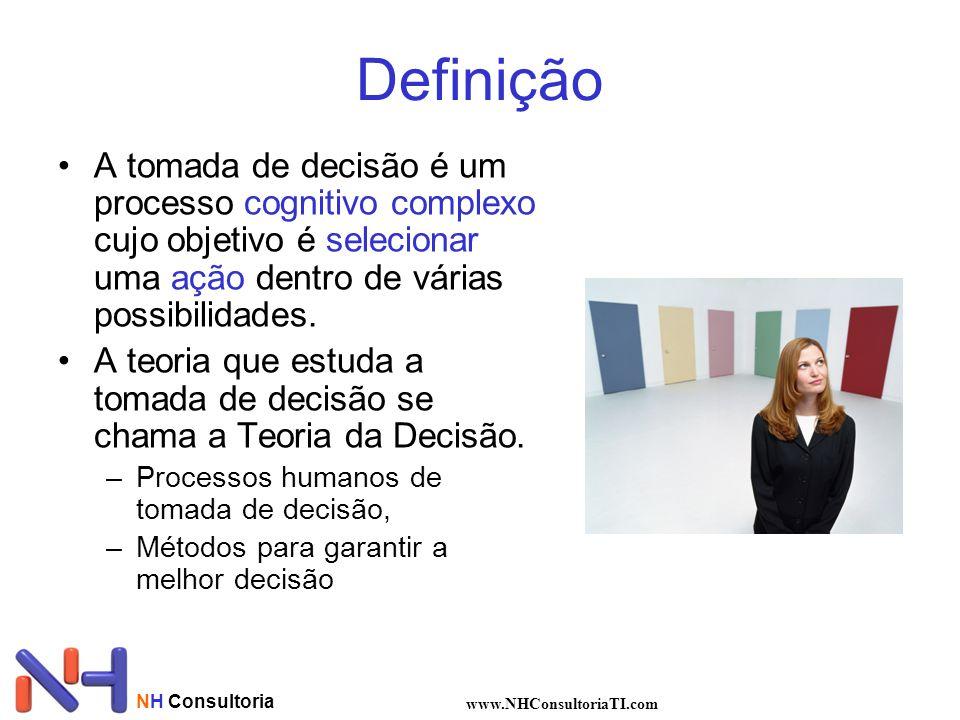 Definição A tomada de decisão é um processo cognitivo complexo cujo objetivo é selecionar uma ação dentro de várias possibilidades.