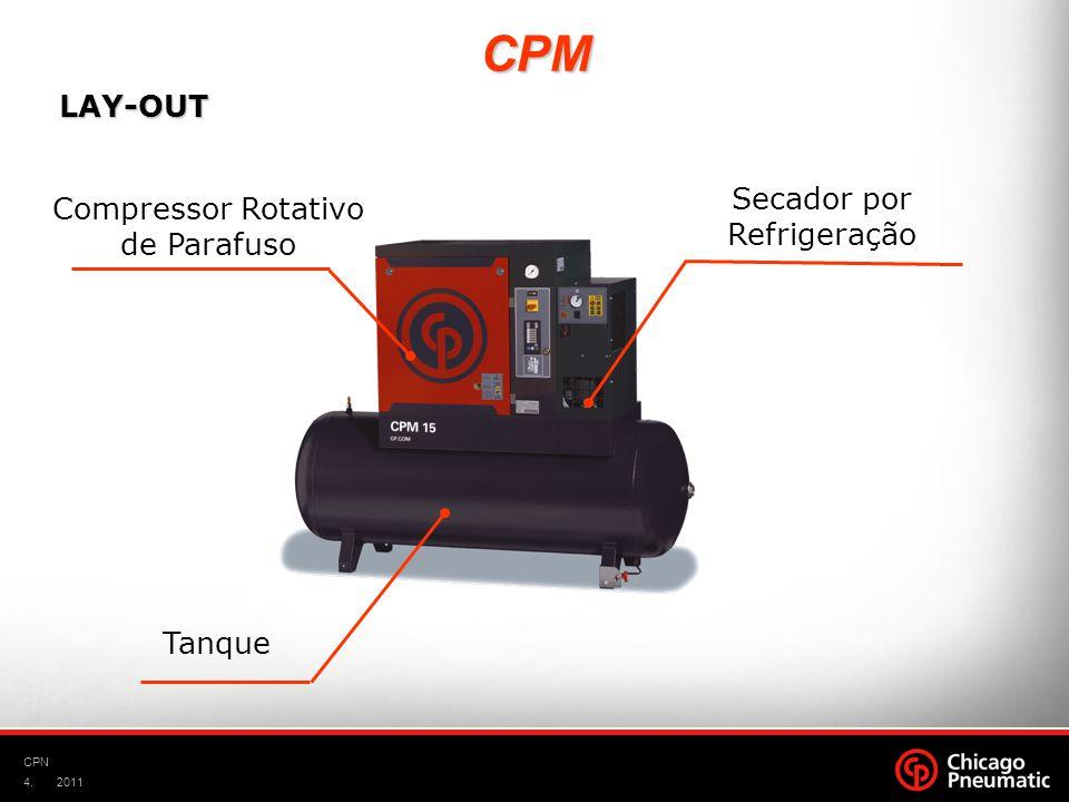 4. CPN 2011 Compressor Rotativo de Parafuso Secador por Refrigeração Tanque LAY-OUT CPM