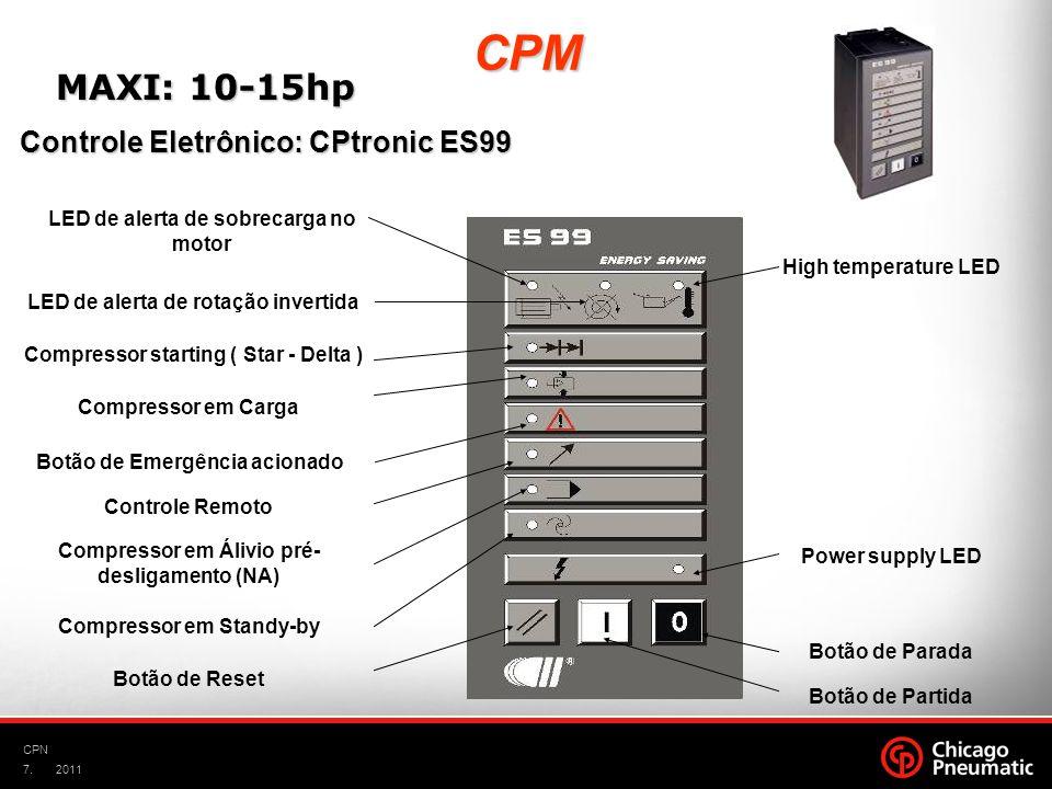 7. CPN 2011 High temperature LED LED de alerta de rotação invertida LED de alerta de sobrecarga no motor Compressor starting ( Star - Delta ) Compress