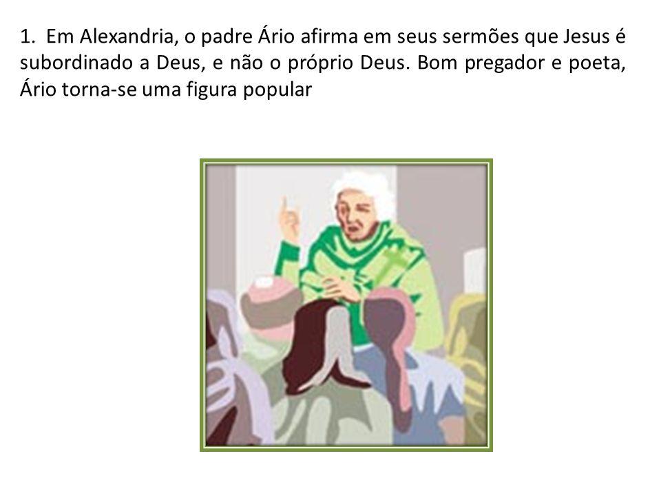 12 - Eusébio morre.Os adeptos de Atanásio tentam entronizar como novo bispo um dos seus, Paulo.