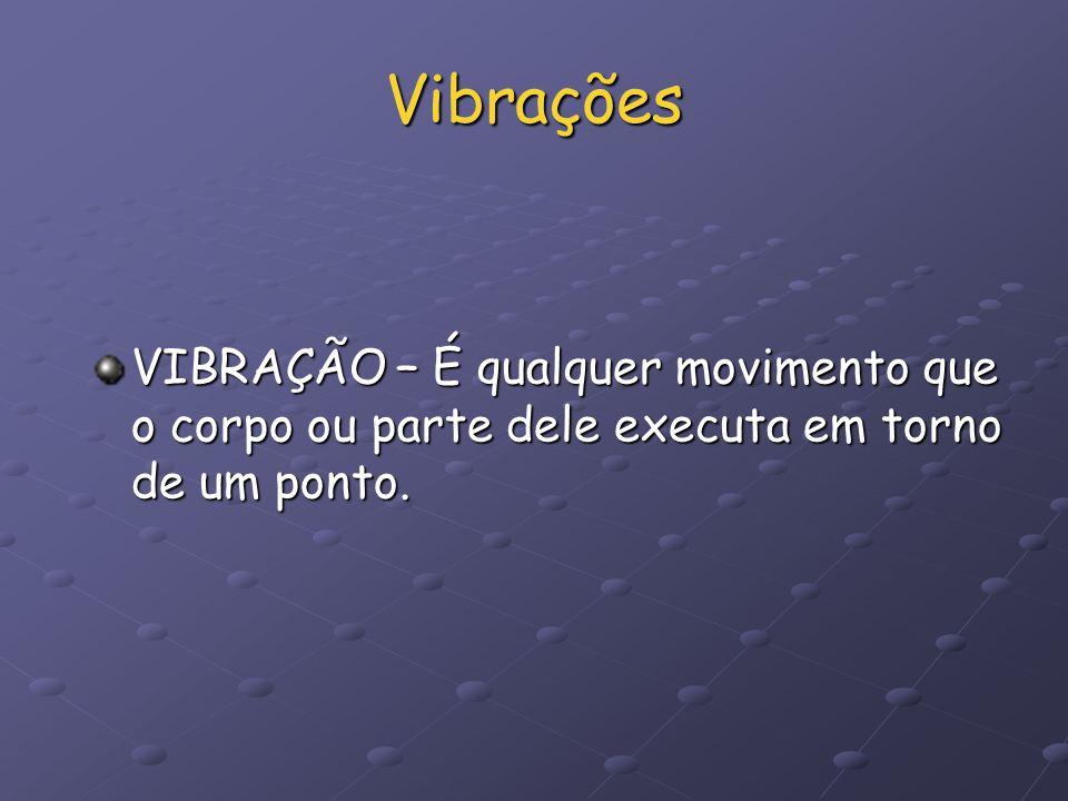 Vibrações VIBRAÇÃO – É qualquer movimento que o corpo ou parte dele executa em torno de um ponto.