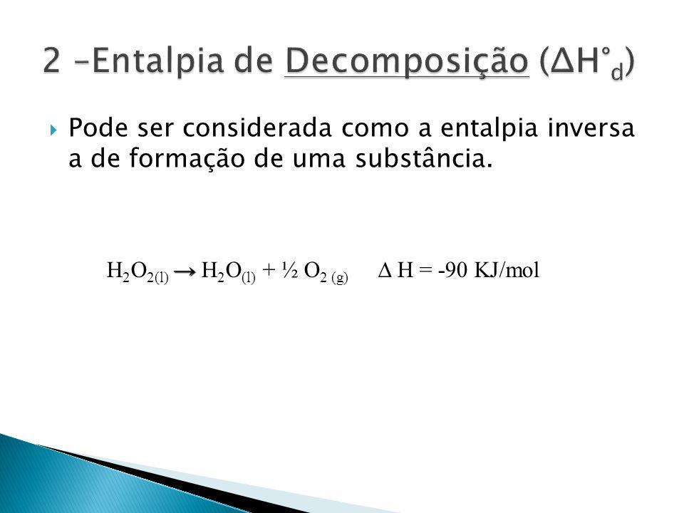 Pode ser considerada como a entalpia inversa a de formação de uma substância.