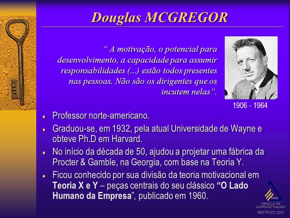 MESTRADO 2001 Professor norte-americano. Graduou-se, em 1932, pela atual Universidade de Wayne e obteve Ph.D em Harvard. No início da década de 50, aj