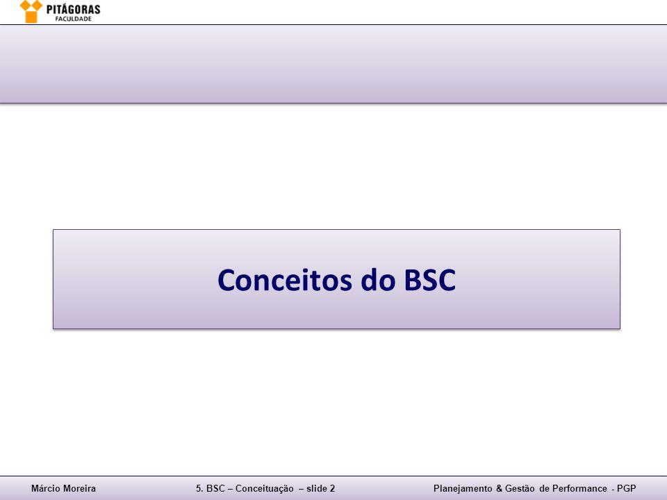 Márcio Moreira5. BSC – Conceituação – slide 2Planejamento & Gestão de Performance - PGP Conceitos do BSC