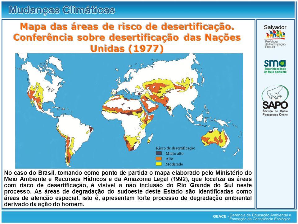 No caso do Brasil, tomando como ponto de partida o mapa elaborado pelo Ministério do Meio Ambiente e Recursos Hídricos e da Amazônia Legal (1992), que