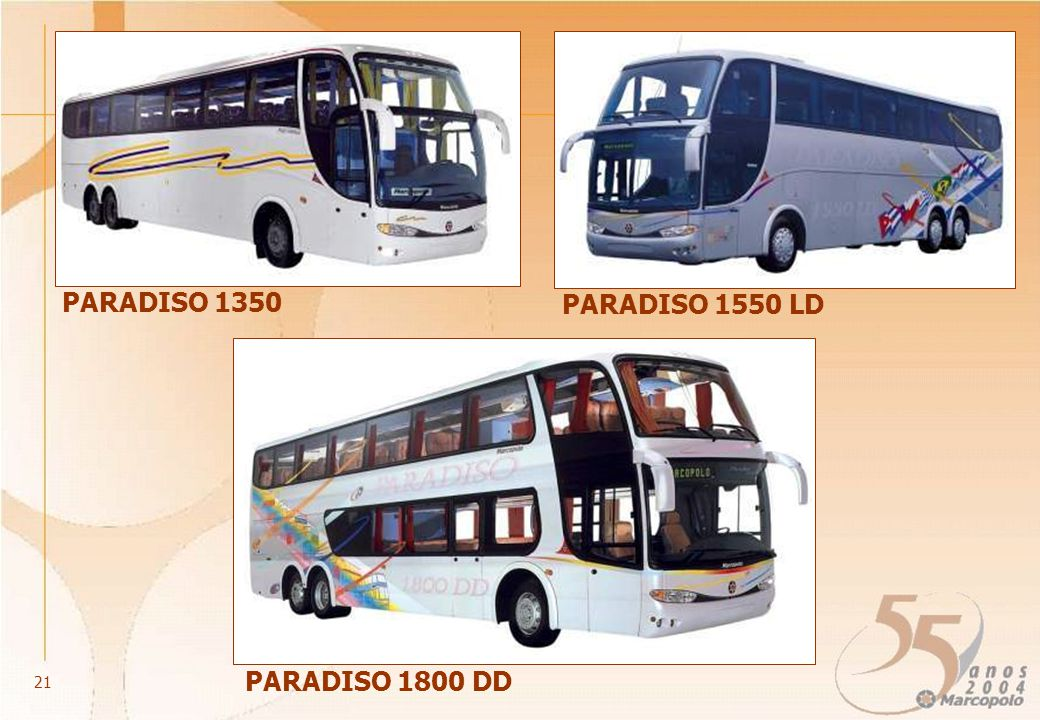 PARADISO 1550 LD PARADISO 1350 PARADISO 1800 DD 21