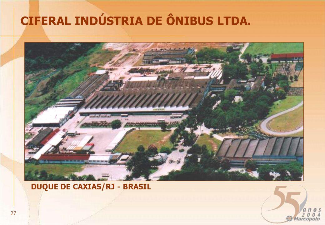 CIFERAL INDÚSTRIA DE ÔNIBUS LTDA. DUQUE DE CAXIAS/RJ - BRASIL 27