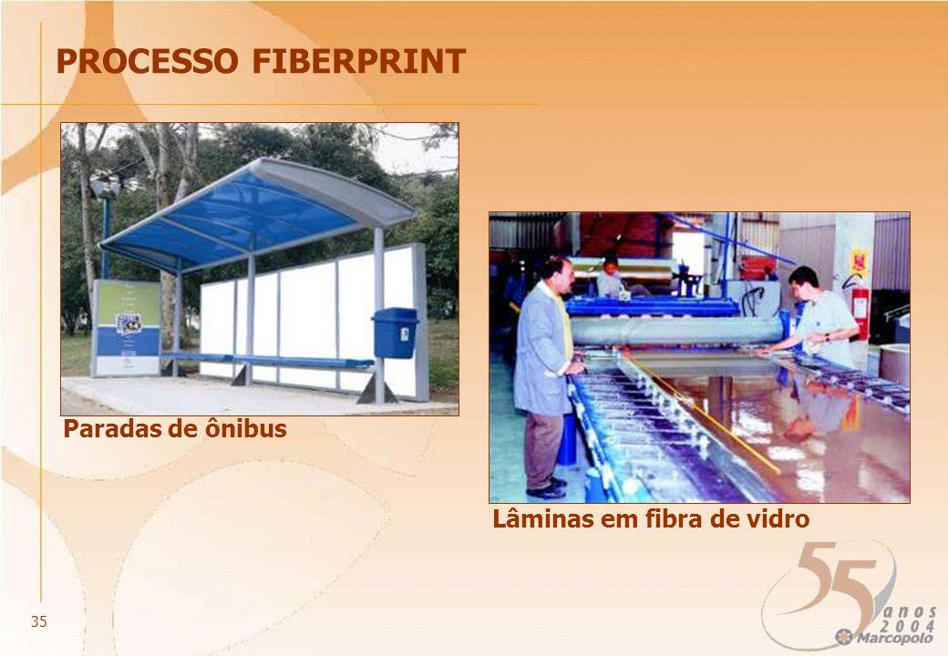 Paradas de ônibus PROCESSO FIBERPRINT Lâminas em fibra de vidro 35