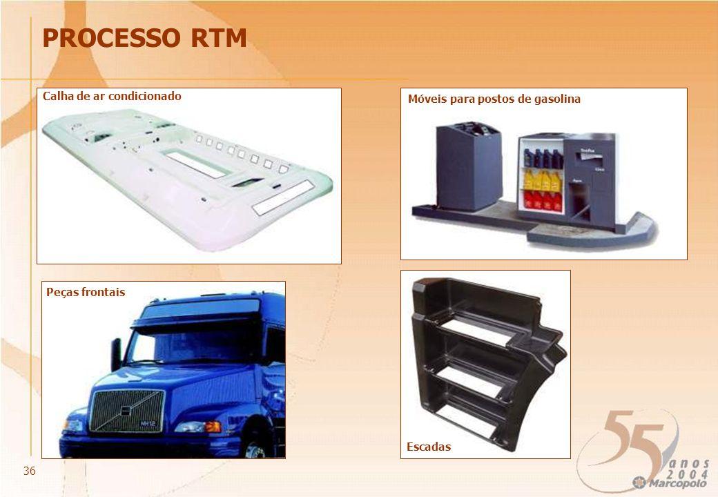 Calha de ar condicionado PROCESSO RTM Móveis para postos de gasolina Peças frontais Escadas 36