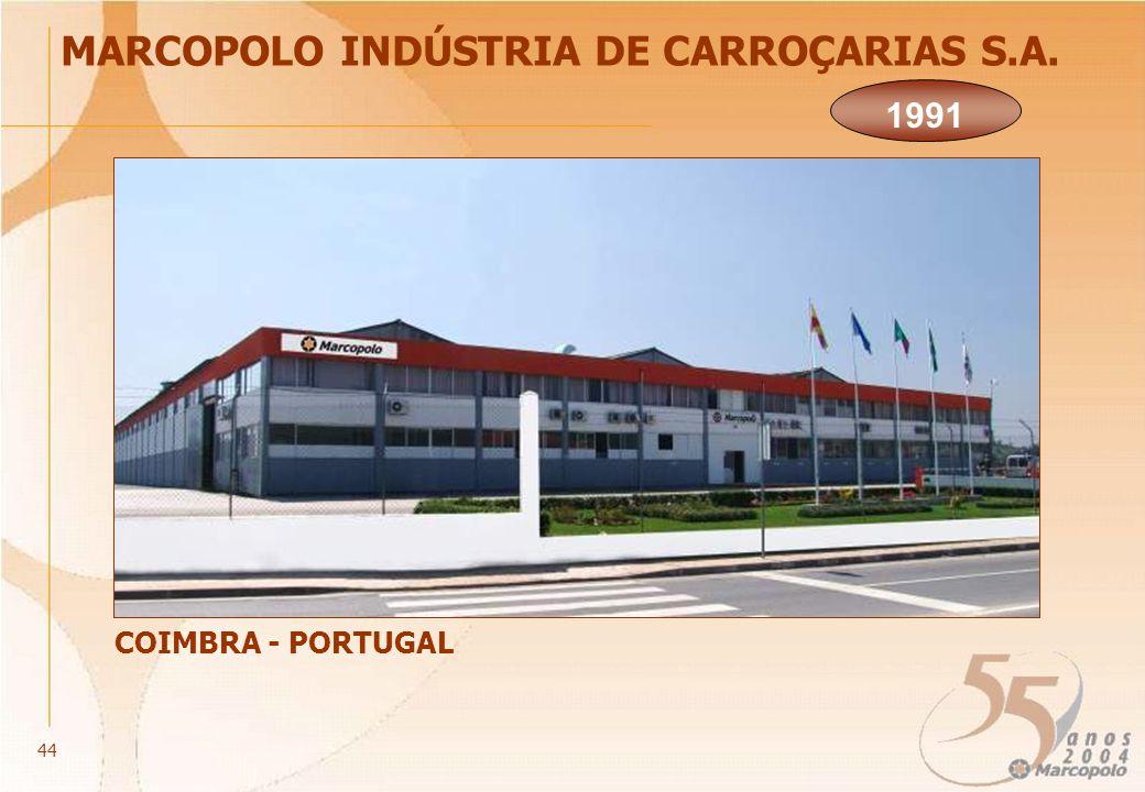 MARCOPOLO INDÚSTRIA DE CARROÇARIAS S.A. COIMBRA - PORTUGAL 1991 44