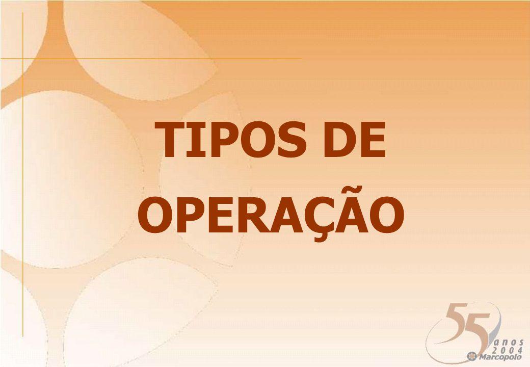 TIPOS DE OPERAÇÃO