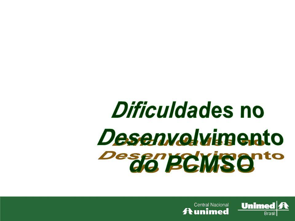 Dificuldades no Desenvolvimento do PCMSO 1. ASOs preenchidos incorretamente