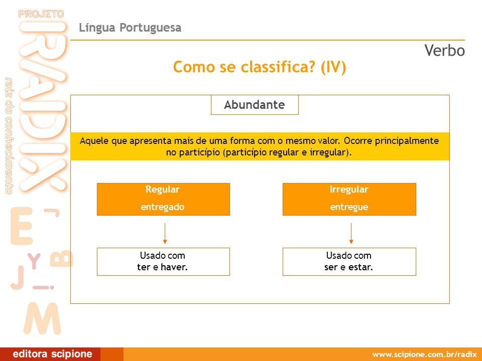 Língua Portuguesa www.scipione.com.br/radix Como se forma o imperativo.