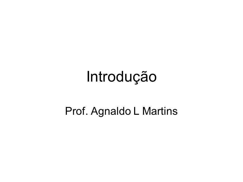 Introdução Prof. Agnaldo L Martins