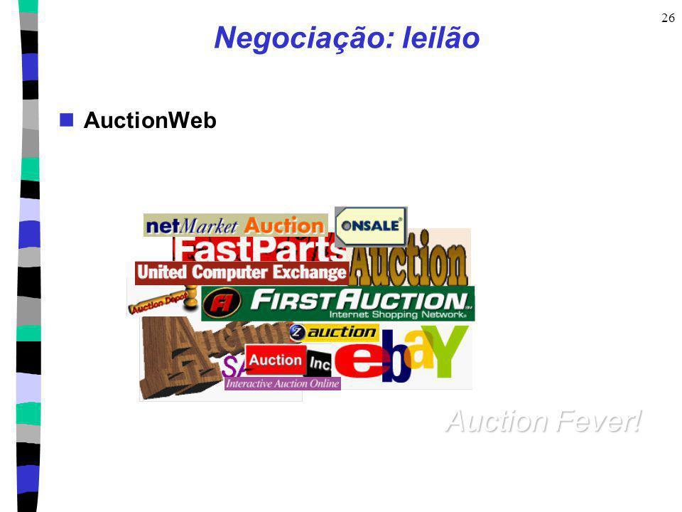 26 Negociação: leilão AuctionWeb Auction Fever!