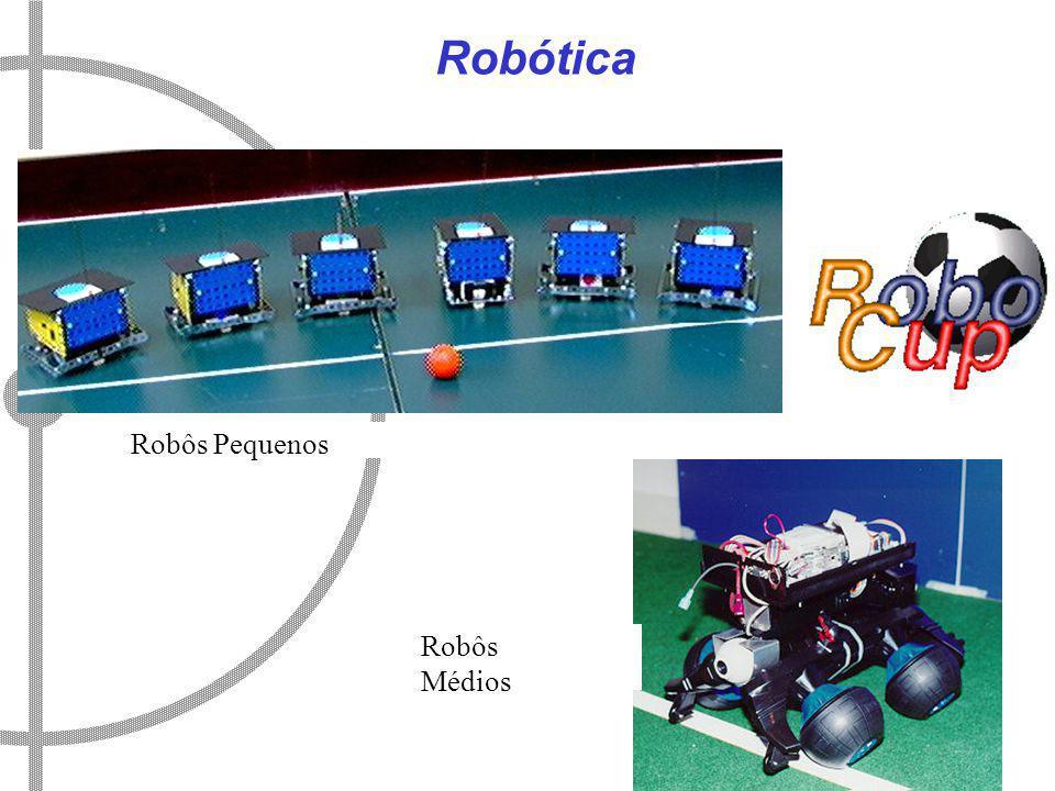 Robótica Robôs Médios Robôs Pequenos
