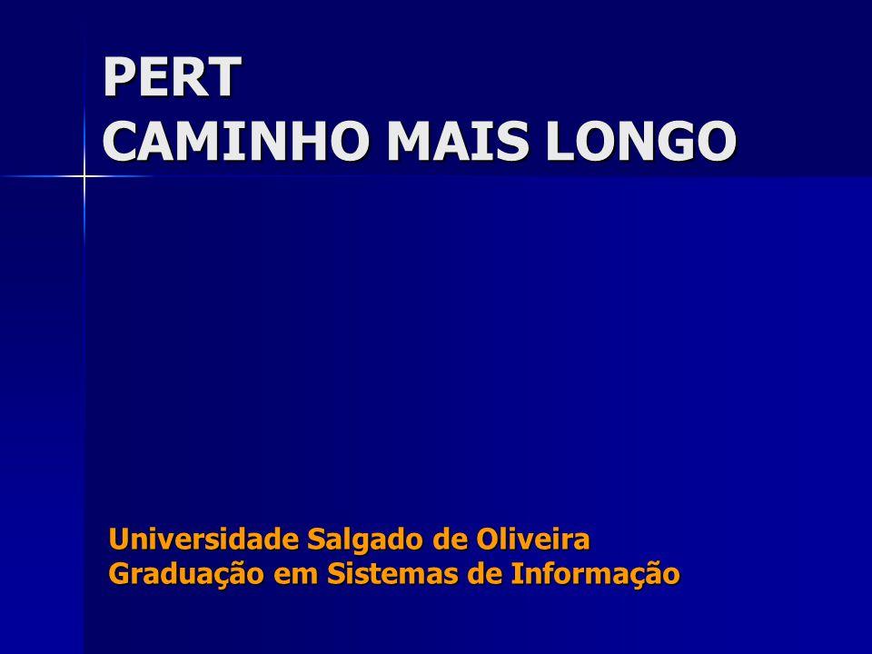 PERT CAMINHO MAIS LONGO Universidade Salgado de Oliveira Graduação em Sistemas de Informação