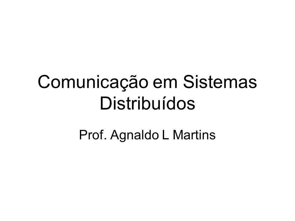 Comunicação em Sistemas Distribuídos Prof. Agnaldo L Martins