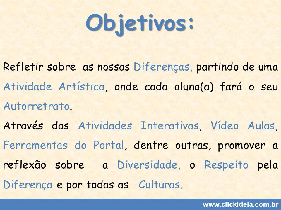 www.clickideia.com.br 1ª Aula: Atividade Artística: Autorretrato.