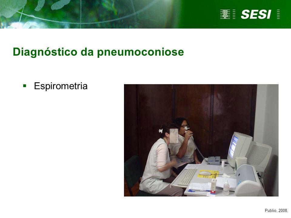 Diagnóstico da pneumoconiose Publio, 2008. Espirometria