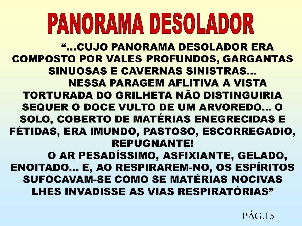 ...CUJO PANORAMA DESOLADOR ERA COMPOSTO POR VALES PROFUNDOS, GARGANTAS SINUOSAS E CAVERNAS SINISTRAS... NESSA PARAGEM AFLITIVA A VISTA TORTURADA DO GR