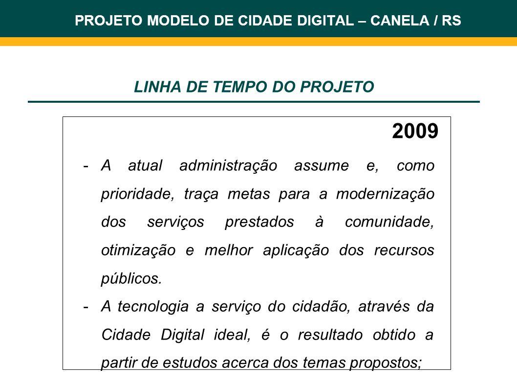 2009 Algumas ações ante-projeto: - Troca do Sistema de Gestão (totalmente web e com fontes livres).