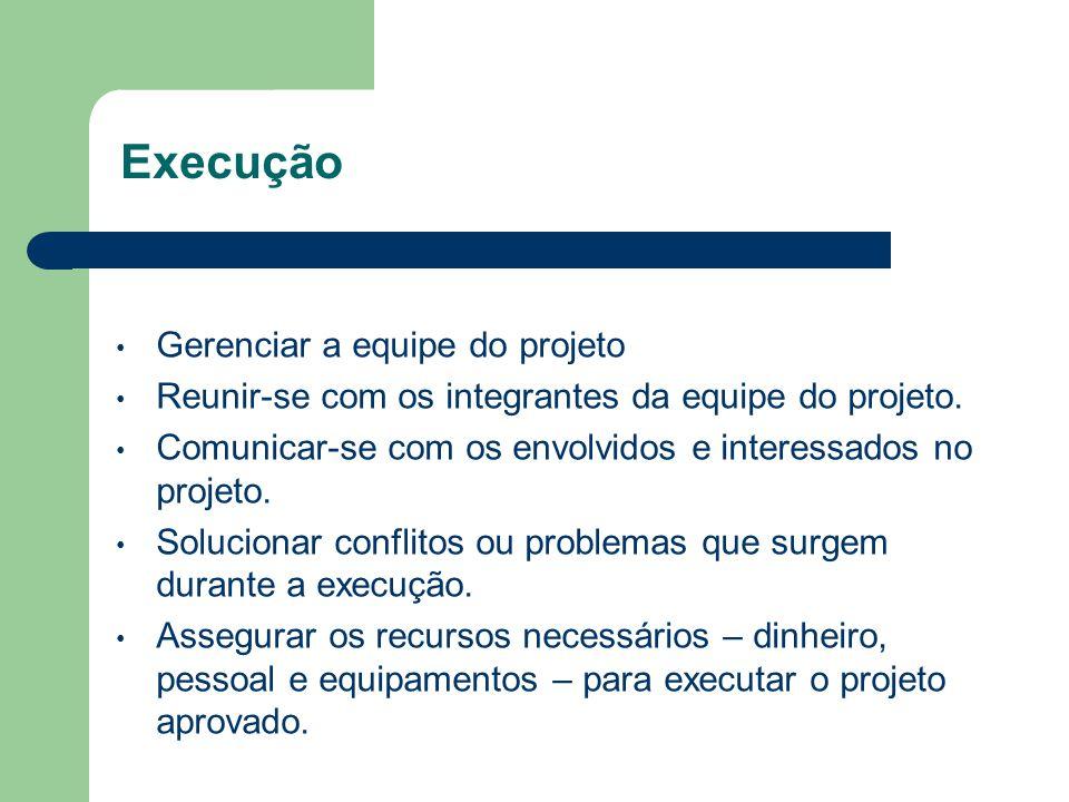 Planejamento Detalhar o escopo do projeto em termos de resultados, prazo e recursos. Listar as atividades necessárias para alcançar os objetivos do pr