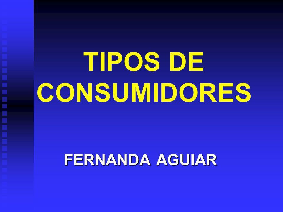 TIPOS DE CONSUMIDORES FERNANDA AGUIAR