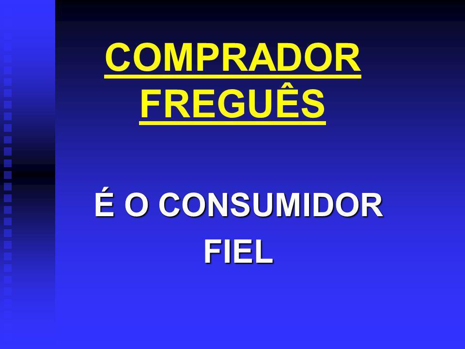 COMPRADOR FREGUÊS É O CONSUMIDOR FIEL