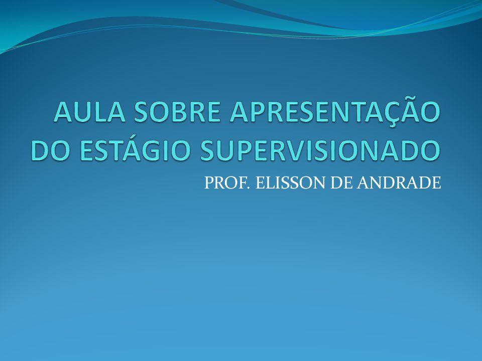 PROF. ELISSON DE ANDRADE