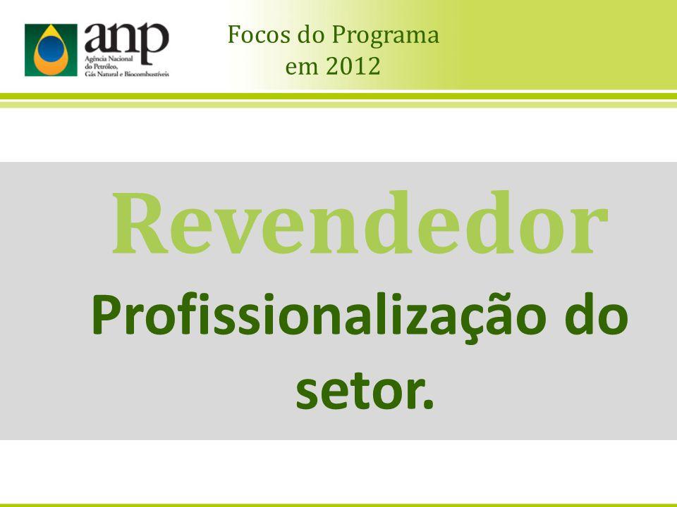 Revendedor Profissionalização do setor. Focos do Programa em 2012