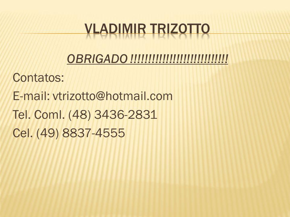 OBRIGADO !!!!!!!!!!!!!!!!!!!!!!!!!!!.Contatos: E-mail: vtrizotto@hotmail.com Tel.