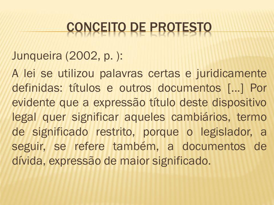 MODO DE APRESENTAÇÃO DO TÍTULO À PROTESTO.