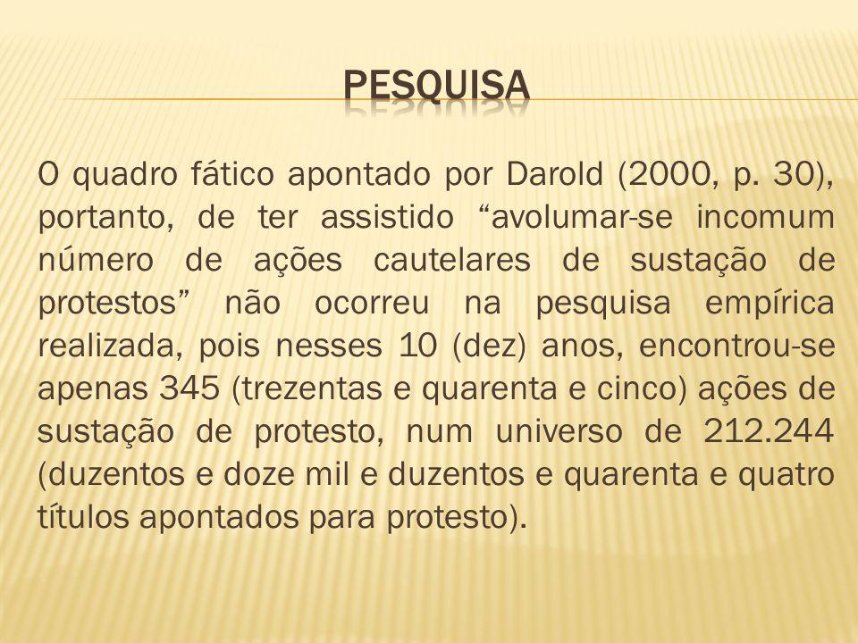 O quadro fático apontado por Darold (2000, p.