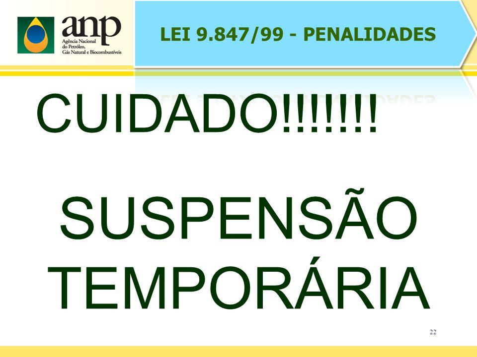 22 CUIDADO!!!!!!! SUSPENSÃO TEMPORÁRIA