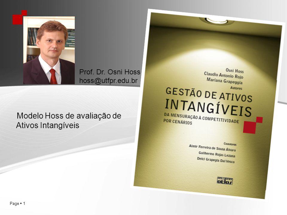Page 1 Prof. Dr. Osni Hoss hoss@utfpr.edu.br Modelo Hoss de avaliação de Ativos Intangíveis