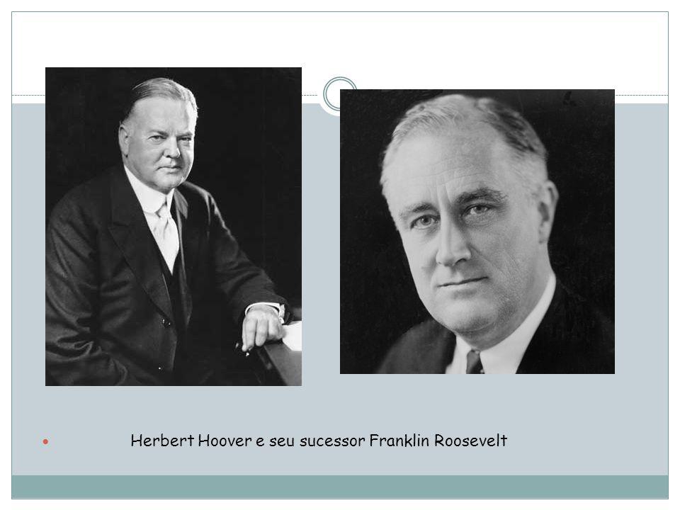 Herbert Hoover e seu sucessor Franklin Roosevelt