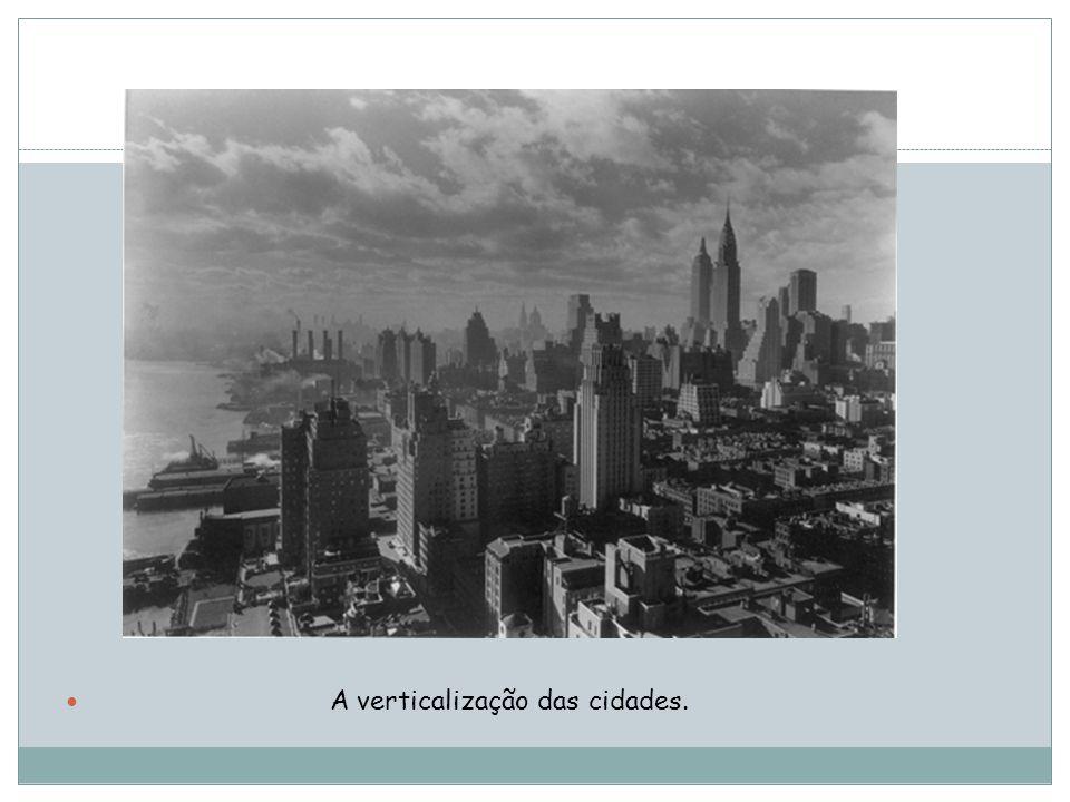 A verticalização das cidades.