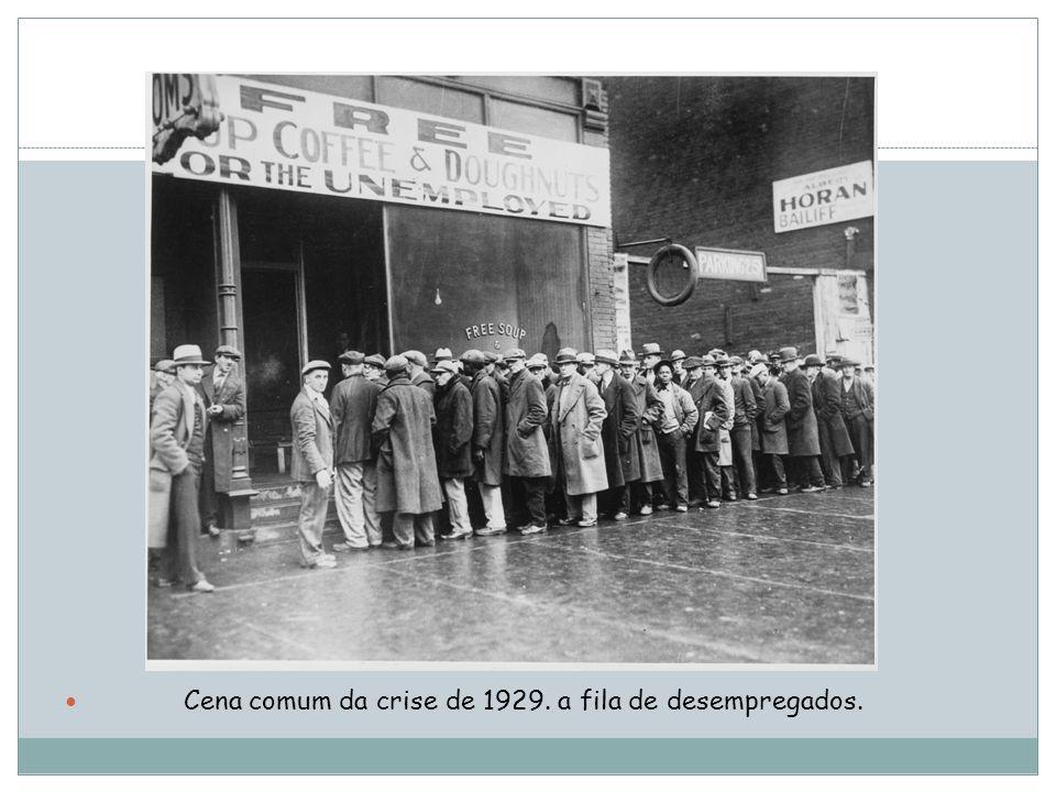 Cena comum da crise de 1929. a fila de desempregados.