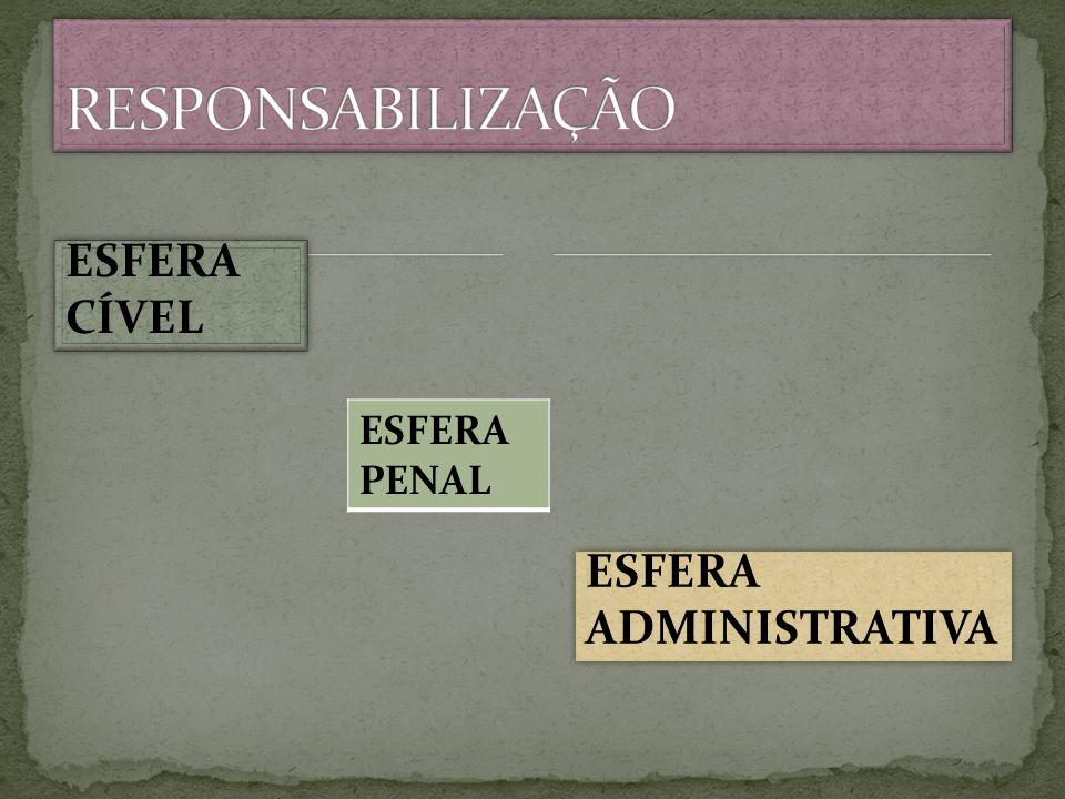ESFERA CÍVEL ESFERA ADMINISTRATIVA ESFERA PENAL