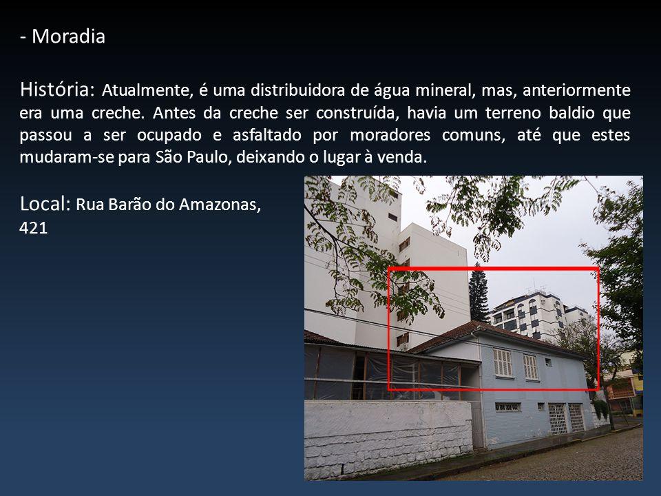 - Moradia História: É uma casa construída há cerca de 20 anos atrás.
