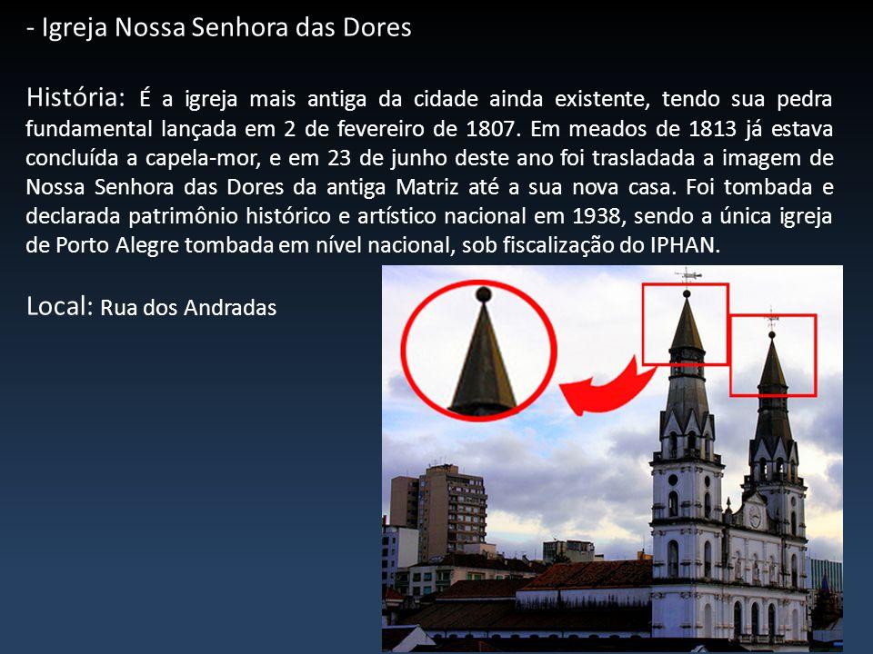 - Torre da Usina do Gasômetro História: O prédio da usina termelétrica do Gasômetro foi inaugurado em 1928 para abrigar a Companhia Brasil de Força Elétrica.