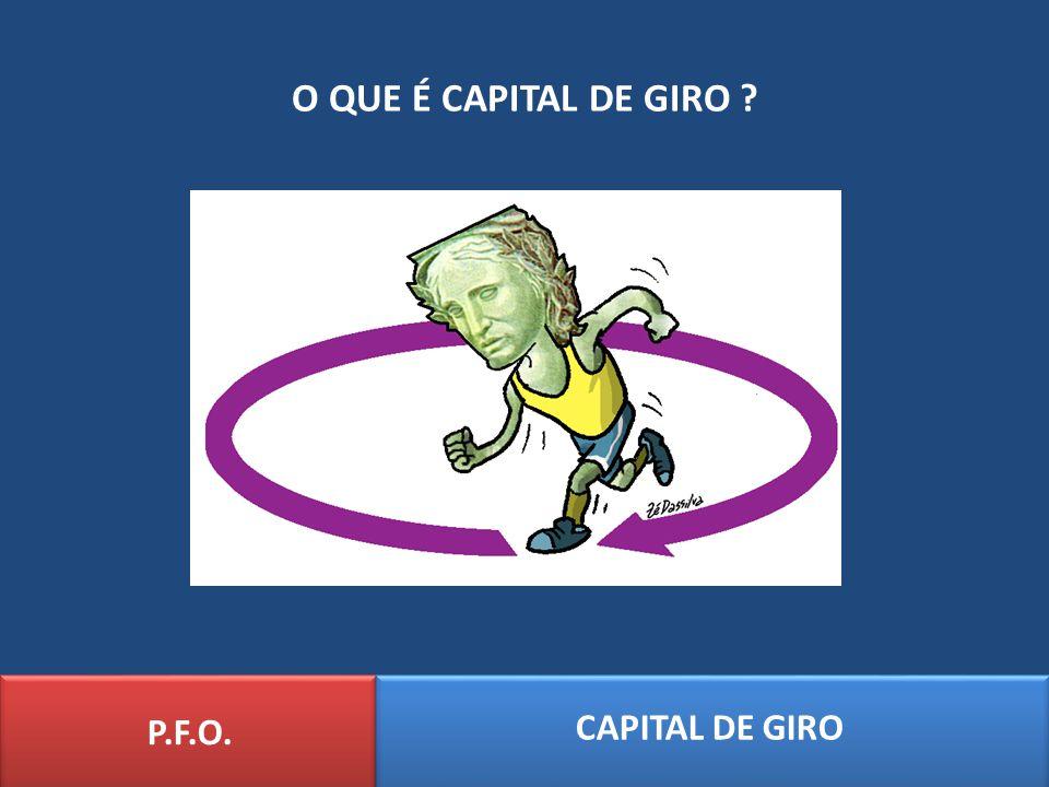 O QUE É CAPITAL DE GIRO ? P.F.O. CAPITAL DE GIRO