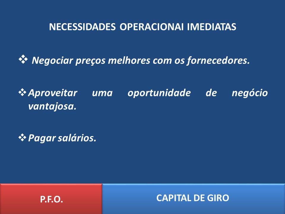 CÁLCULO DO GIRO DE CAIXA P.F.O.
