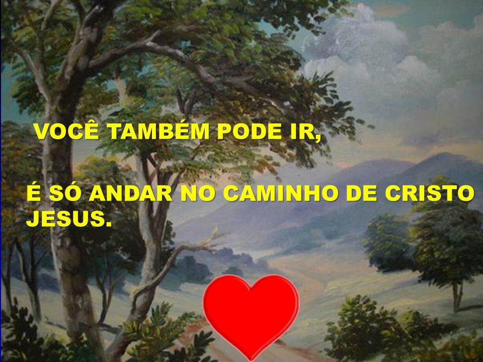 O SENHOR É O BOM PASTOR VOCÊ TAMBÉM PODE IR, VOCÊ TAMBÉM PODE IR, É SÓ ANDAR NO CAMINHO DE CRISTO JESUS.