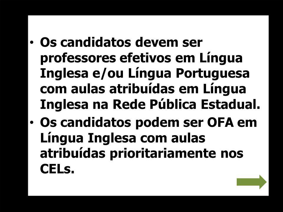Os candidatos ao Teachers Links deverão observar no site da PUC- SP/COGEAE os pré-requisitos para participar do curso, no endereço http://cogeae.pucsp.br/cogeae/ curso/70.